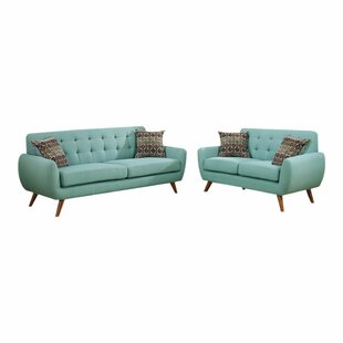 Maariyah2PieceStandardLivingRoomSet Beach & Coastal Living Room Furniture
