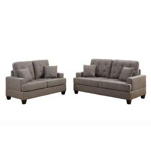Saphira2PieceLivingRoomSet Beach & Coastal Living Room Furniture